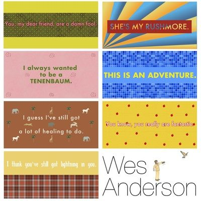 Quotes from Wes Anderson films Art Print