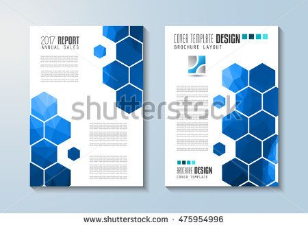 Brochure template, Flyer Design or Depliant Cover for business - business report sample