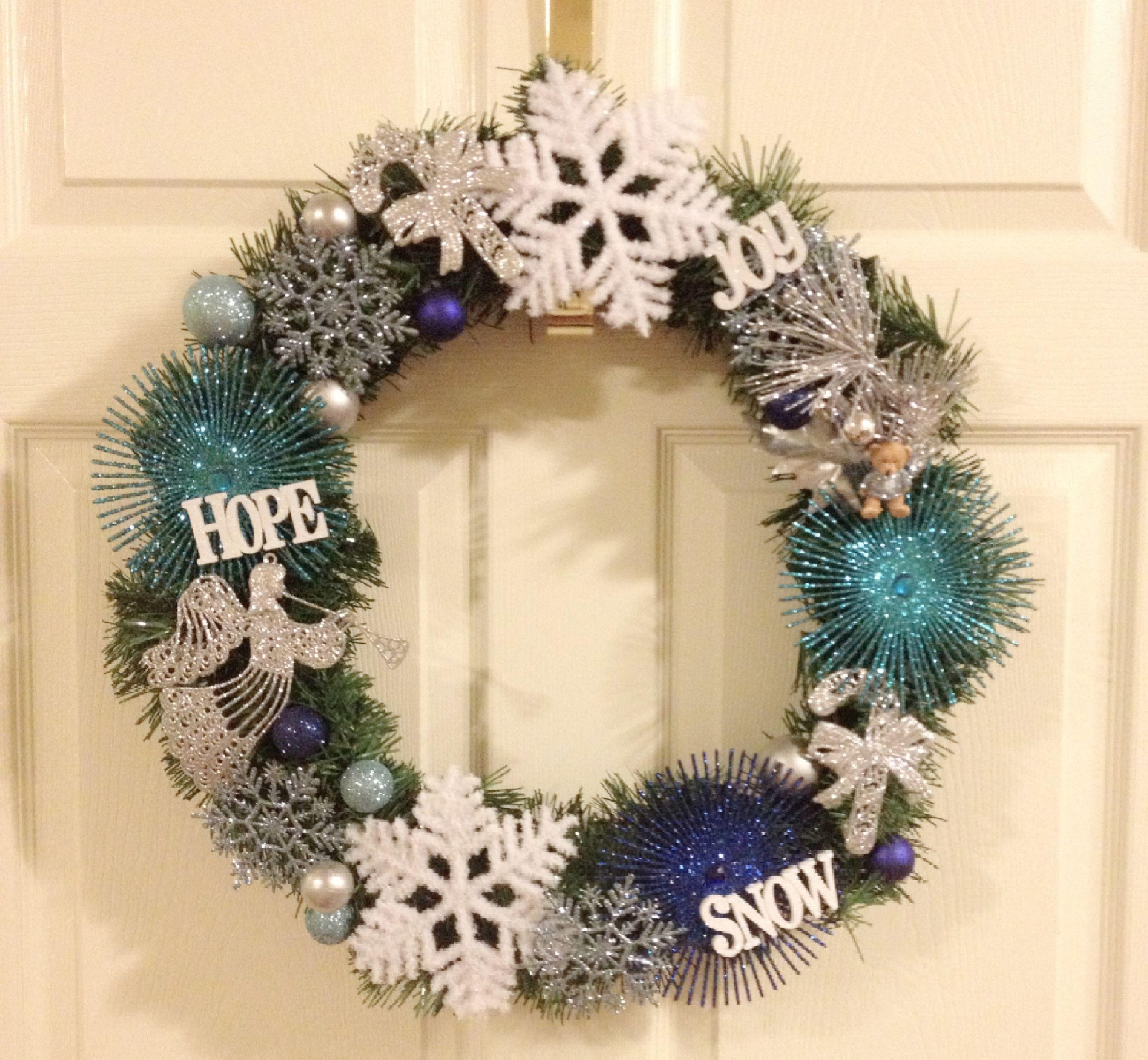 Winter wonderland wreath snowflakes holiday wreath diy my diy winter wonderland wreath snowflakes holiday wreath diy solutioingenieria Gallery