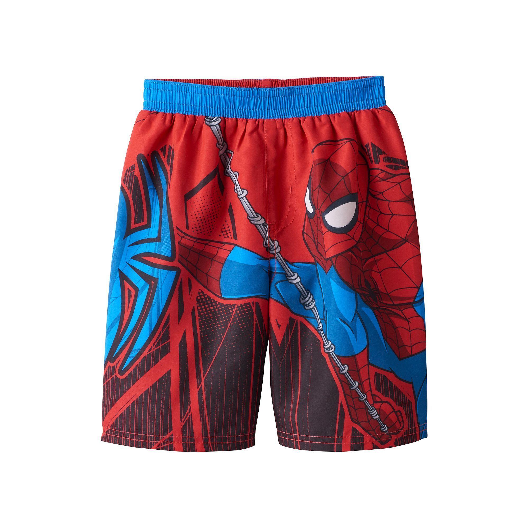 9da0bd6ebd Toddler Boy Marvel Spider-Man Swim Trunks | Products | Man swimming ...