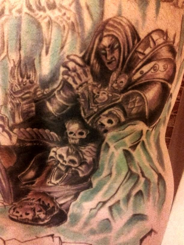 Arthas lich king exclusive tattoo pinterest king for Lich king tattoo