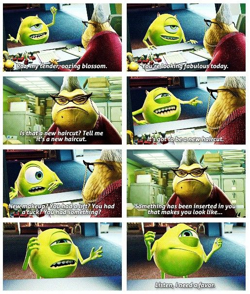 Day 12: favorite non-animal sidekick: Mike Wazowski  Because
