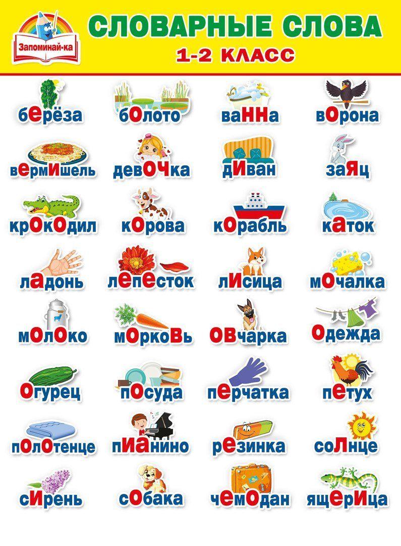 Подборка словарных слов с картинками (33 фото) | Словарные ...