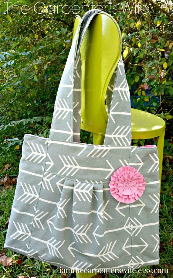 Arrow Purse ..... Gray Arrows purse bag by IAmTheCarpentersWife