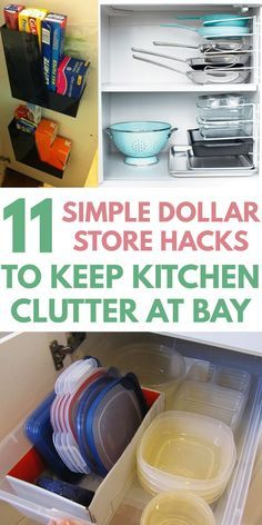 How to Declutter Your Kitchen with Dollar Store Organization Hacks #kitchenorganizationdiy
