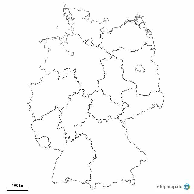 Stumme Karte Deutschland Bundesländer.Deutschland Bundesländer Mappe In 2019 Map Outline Map Germany