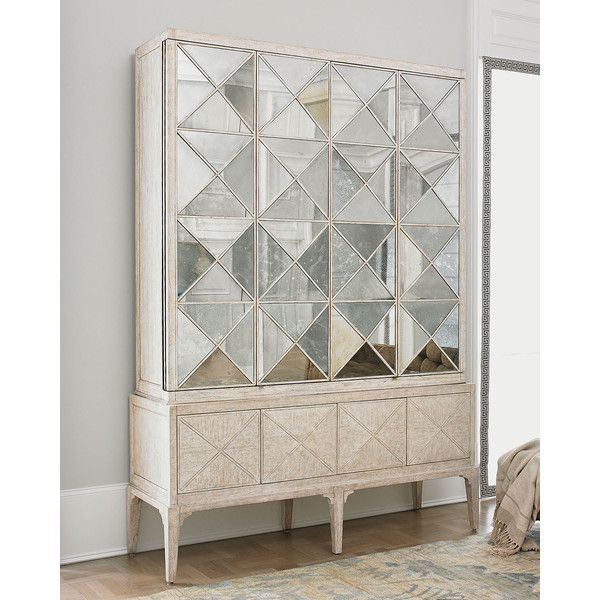 Ambella Haldis Mirrored Entertainment Cabinet (418.880 RUB) ❤ liked ...