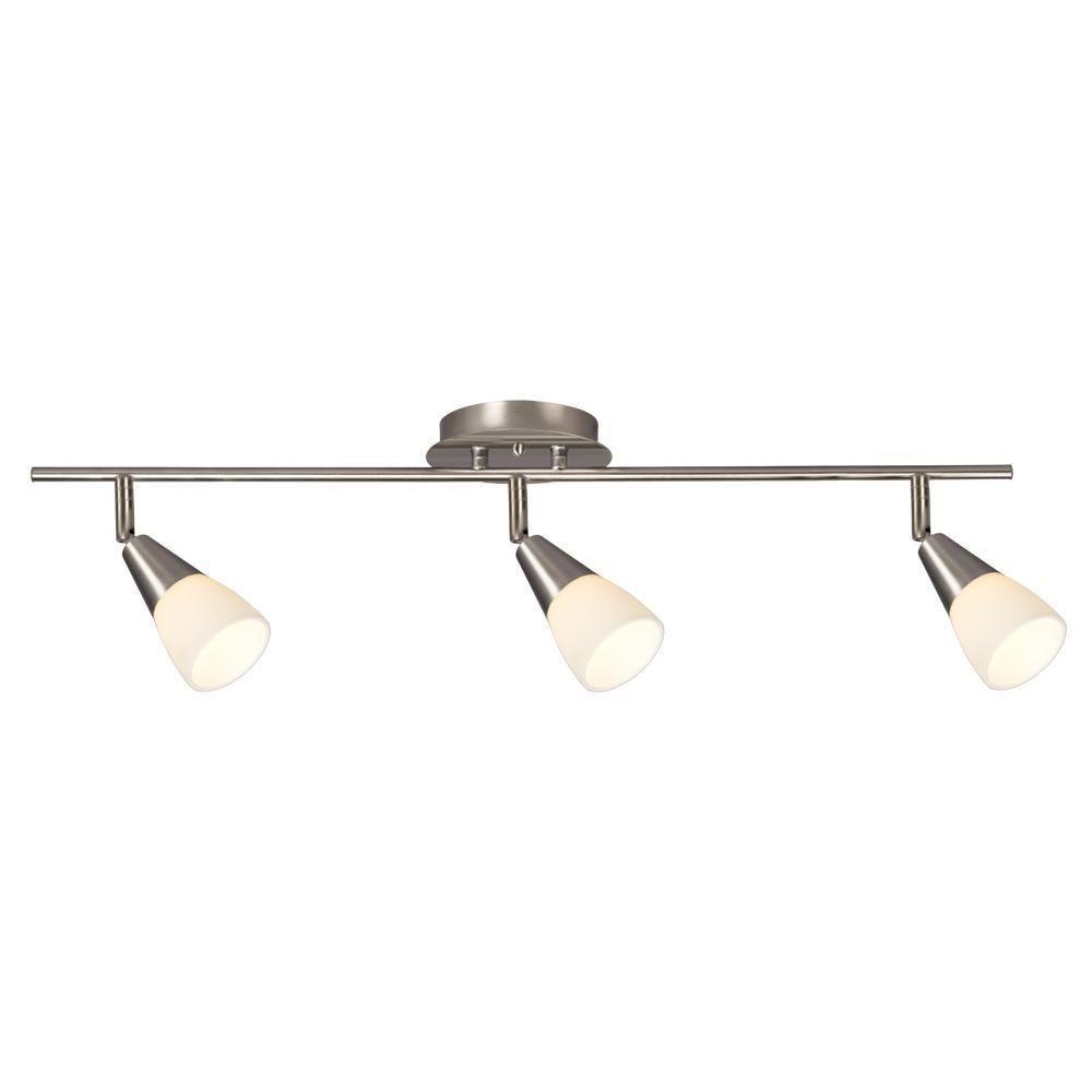 Filament Design Carter 3 Light Brushed Nickel Track Lighting Kit Cli Xy260155 The Home Depot