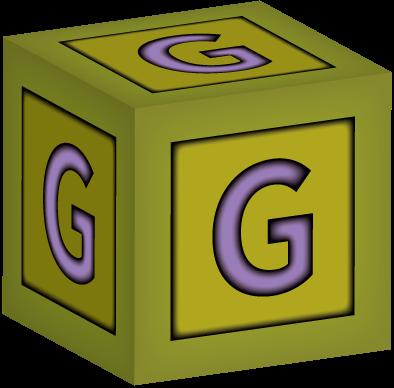 3d Building Block Letter G Baby Building Blocks Block Lettering Baby Blocks