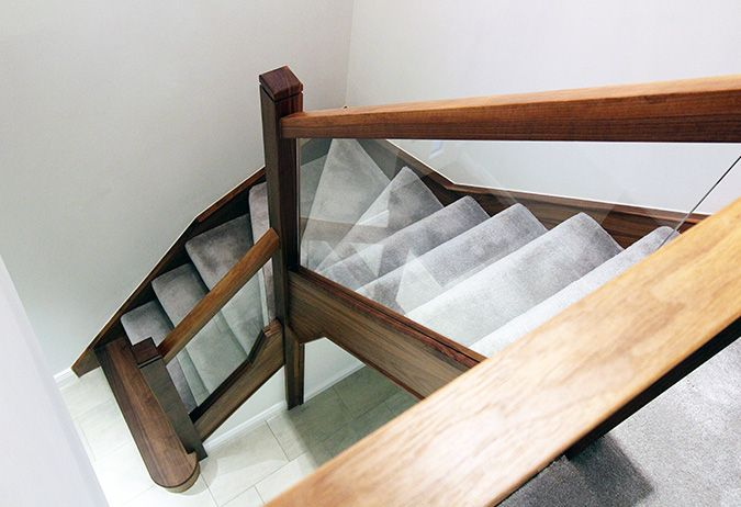 Best This Stunning Walnut And Glass Staircase Renovation For 400 x 300