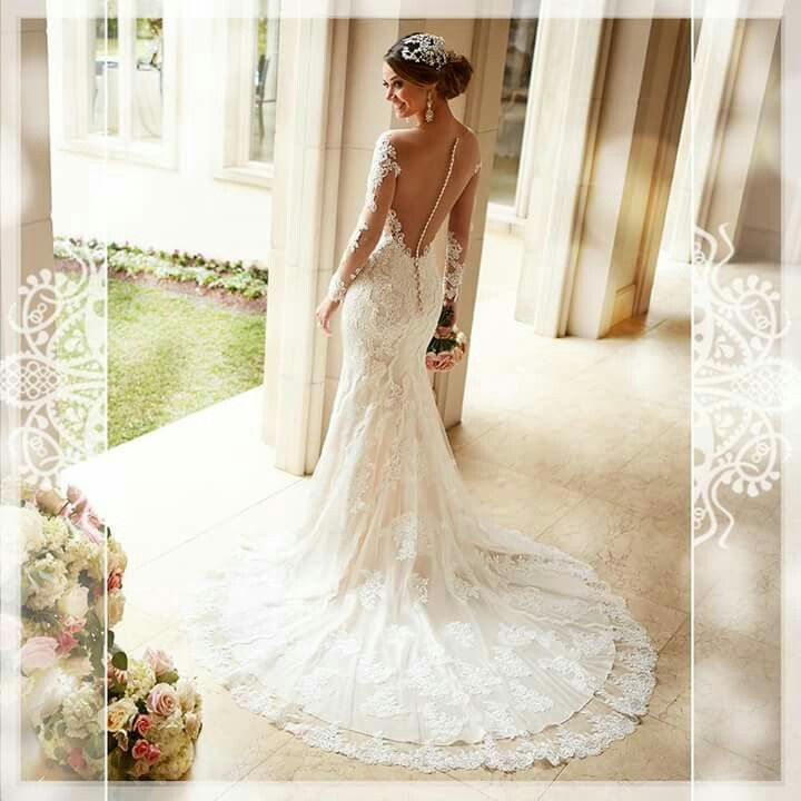 Vintage Wedding Dresses Glasgow: Long Sleeve Wedding Dress Lace