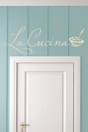 Wandtattoo La Cucina die #Küche Sprüche Pinterest - küchen wandtattoo sprüche