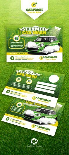 Car Wash Postcard Template PSD, InDesign INDD. Download here: http://graphicriver.net/item/car-wash-postcard-templates/15772650?ref=ksioks