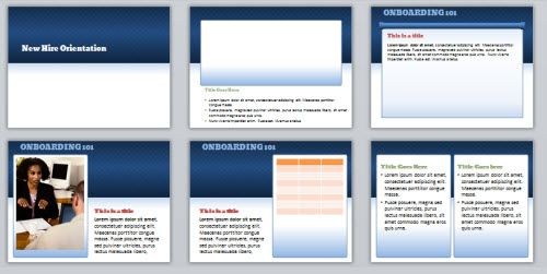 HereS A Powerpoint Template Used To Create A Software Training