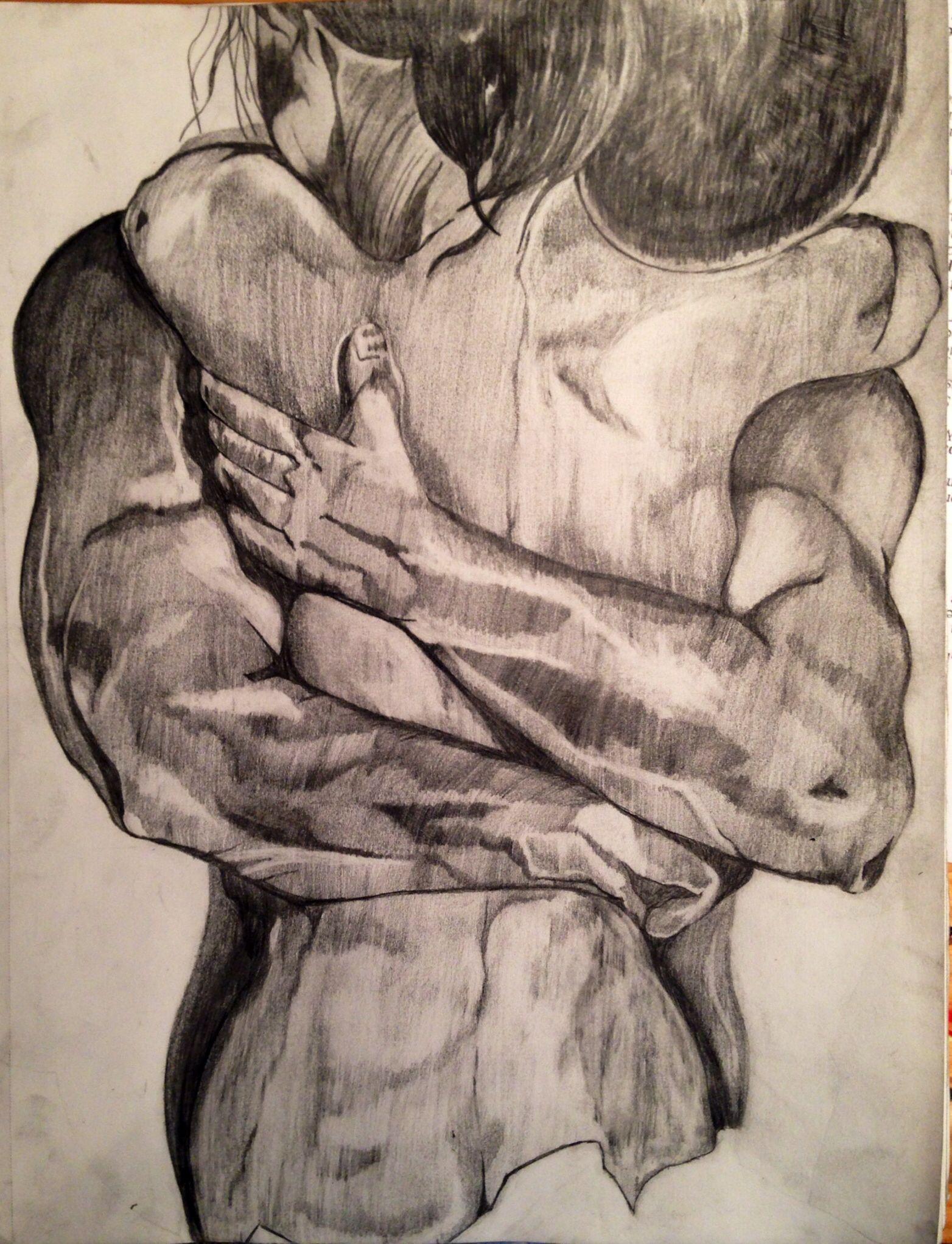 Рисунки обнимающихся влюбленных