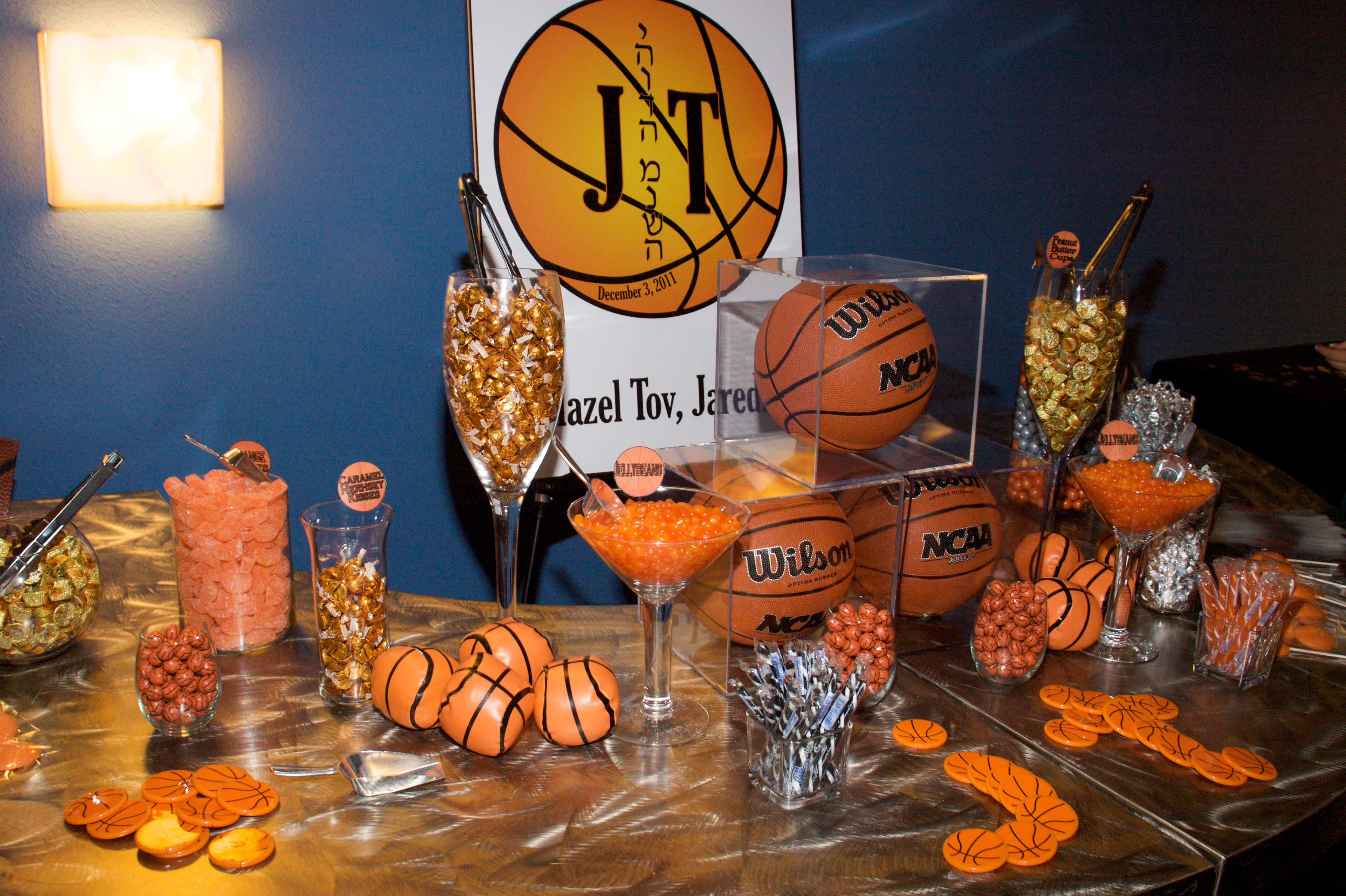 Halloween candy buffet idea - Basketball Candy Buffet