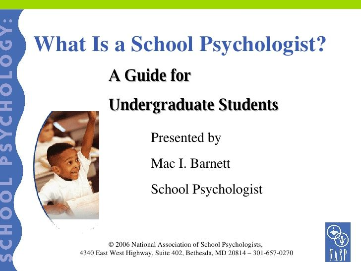 What Is A School Psychologist Powerpoint - For undergraduate