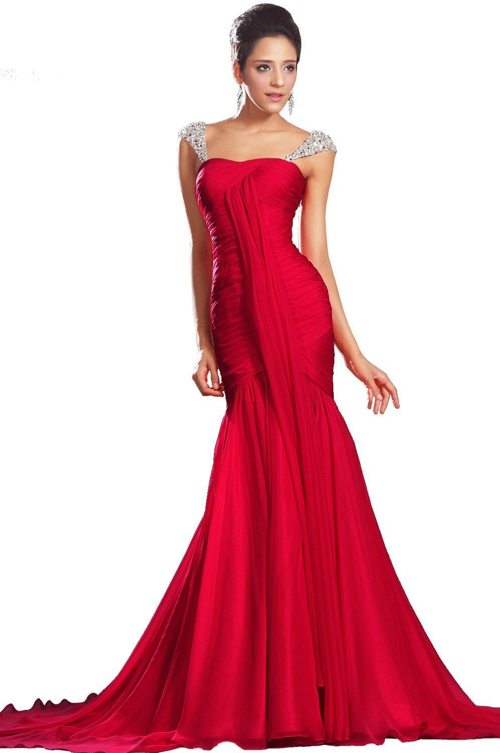 Wedding Red Evening Gown evening dresses 2013 red 2013