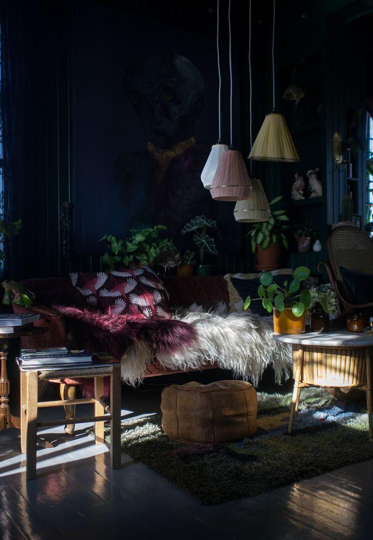 VILLA BETULA – the dark hues of maren ingeborg gråblomst #stueinspirasjon