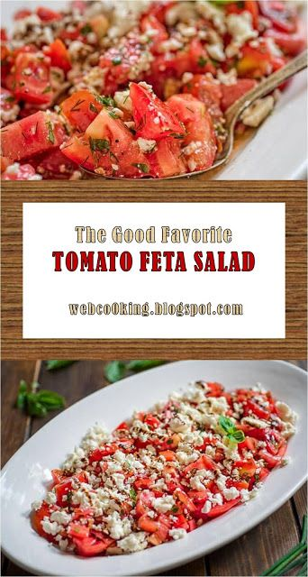 The Good Favorite #Food #Lunch #Salad #Appertizer #Vegetarian #Tomato #Recipes >> TOMATO FETA SALAD - ~09~ Cooking Recipes