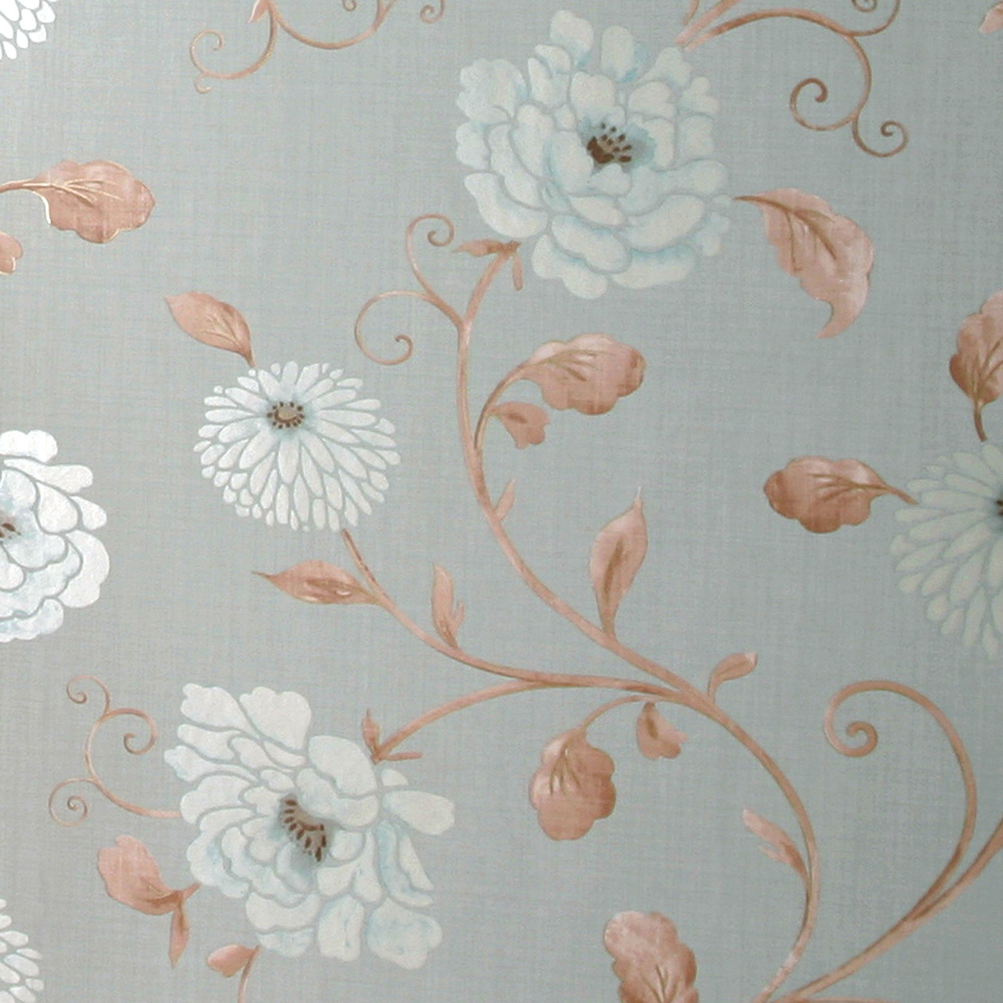 Arthouse Vintage Antoinette Metallic Effect Blue Wallpaper