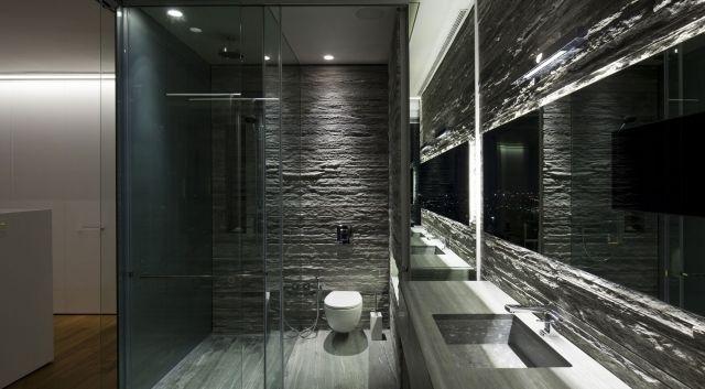 Salle de bain grise - 30 idées sympas pour maison moderne House - Salle De Bain Moderne Grise