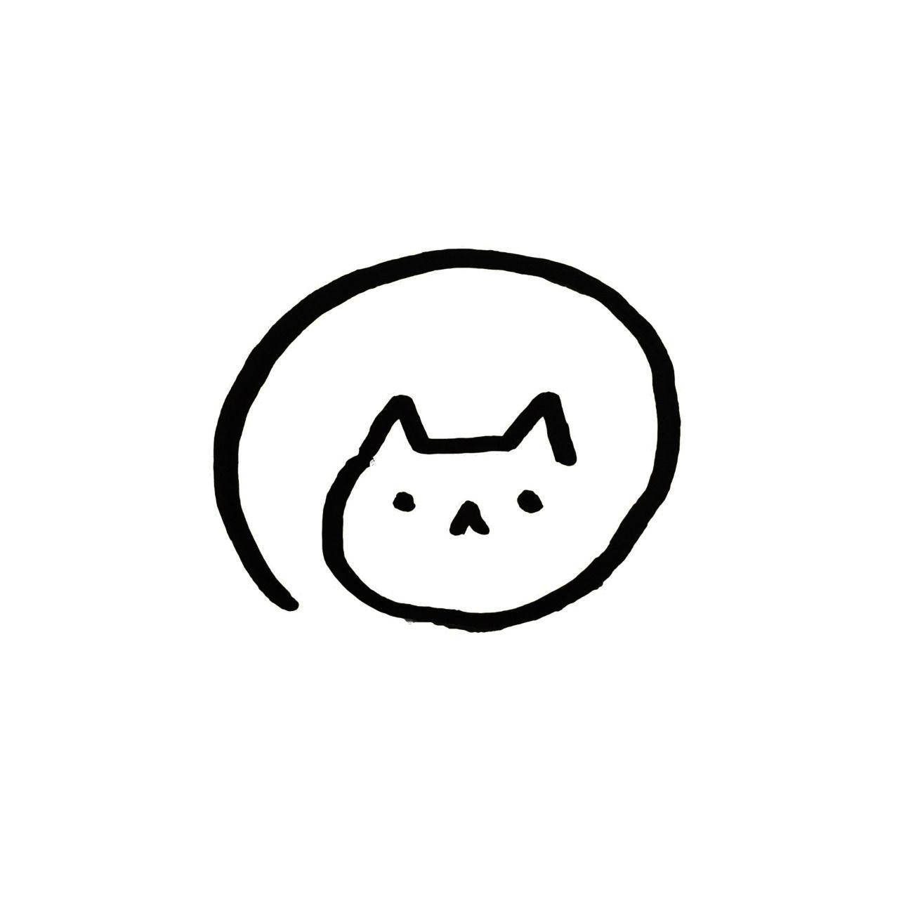 Cat Illustration Tumblr Cute Easy Animal Drawings Easy Animal Drawings Mini Drawings