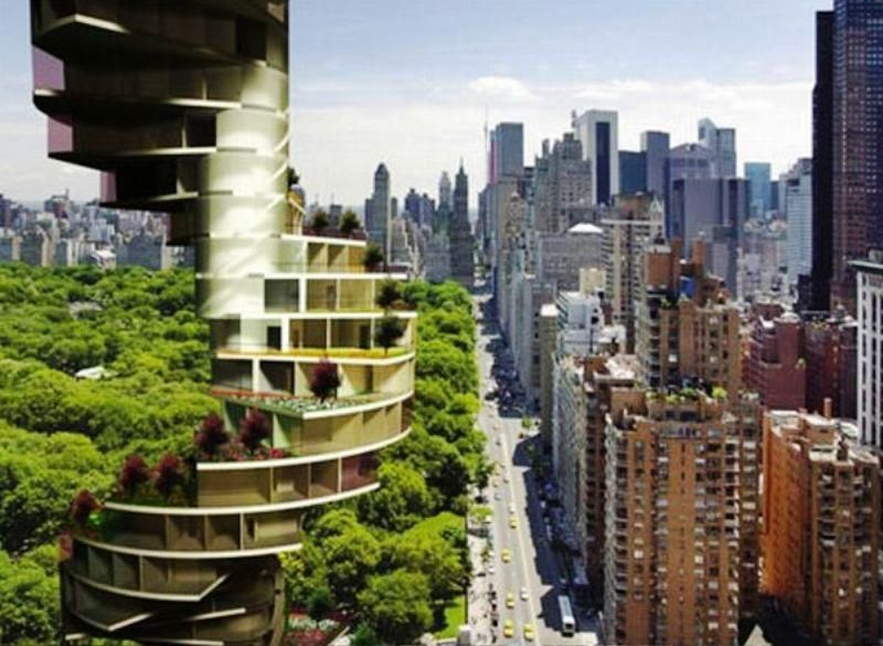 Image result for living roof skyscraper