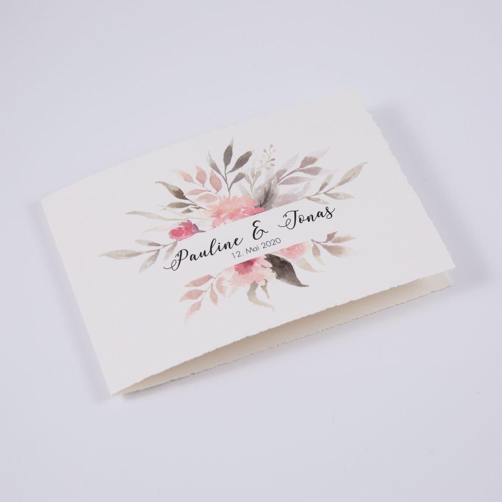 Photo of 303.054.2 Büttenpapier Blumen Einladung in wundervoller Watercolouroptik Durch …