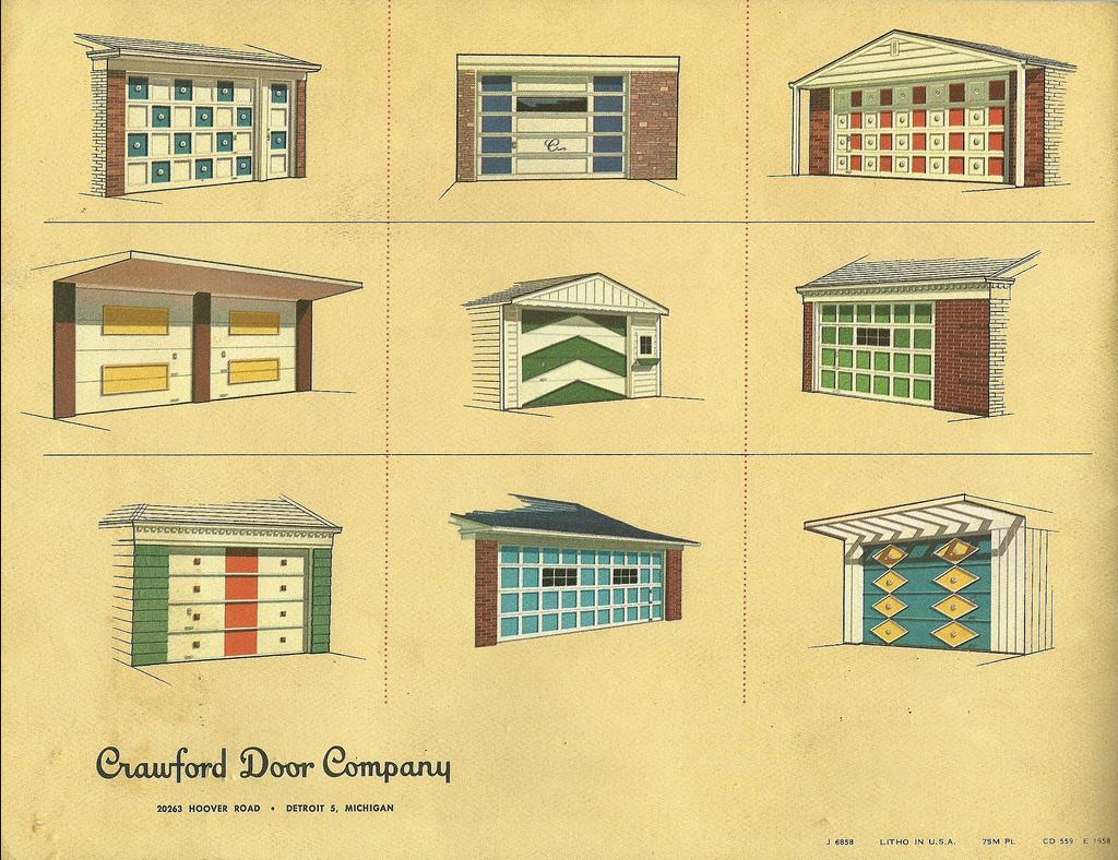 Crawford Door Company Garage Design Mid Century Modern