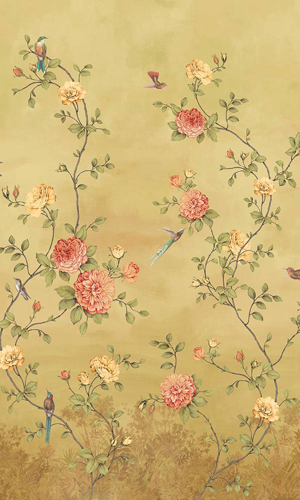 12 Beautiful Wall Covering Ideas For A French Feeling French Country Cottage Floral Wallpaper Chinoiserie Wallpaper Pink Floral Wallpaper