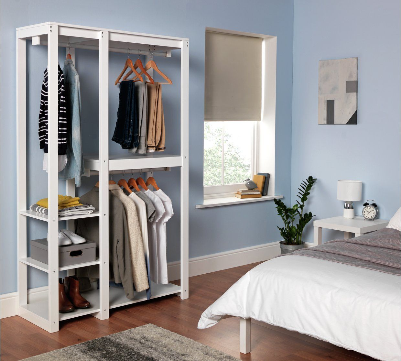 Buy Argos Home Open Decorative Wardrobe Unit - White  Wardrobes
