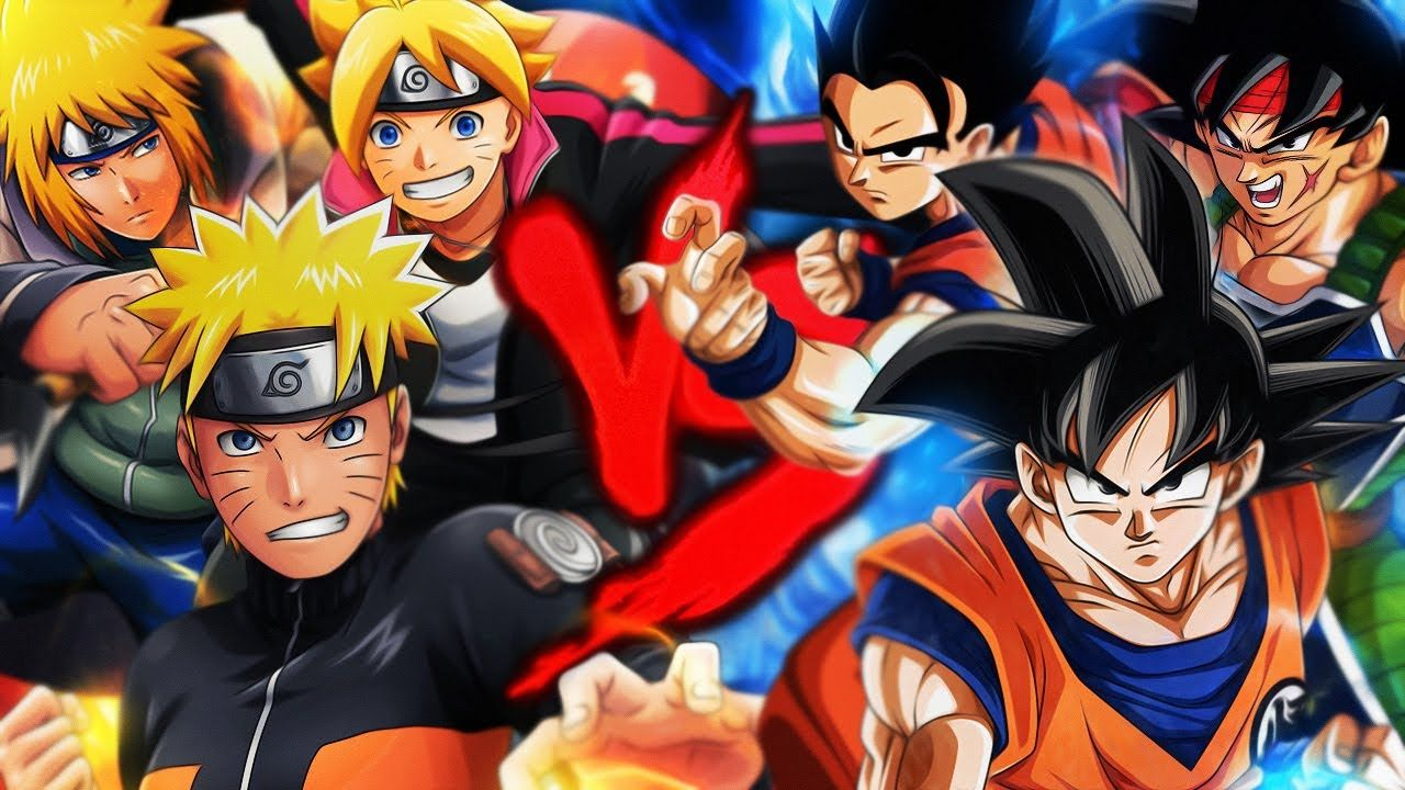 Goku Gohan E Bardock Vs Naruto Boruto E Minato Duelo De Titas Anime Naruto Vs Kakashi Sharingan