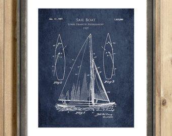 1920s sail boat patent print sail boat blueprint art sailing decor 1920s sail boat patent print sail boat blueprint art sailing decor boating malvernweather Images