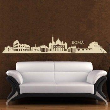 INTERIEURSTICKERS: Een muursticker met de afbeelding van Rome