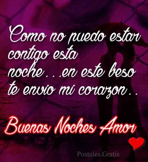Mensajes De Amor Para Decir Buenas Noches 2 Postales De Amor