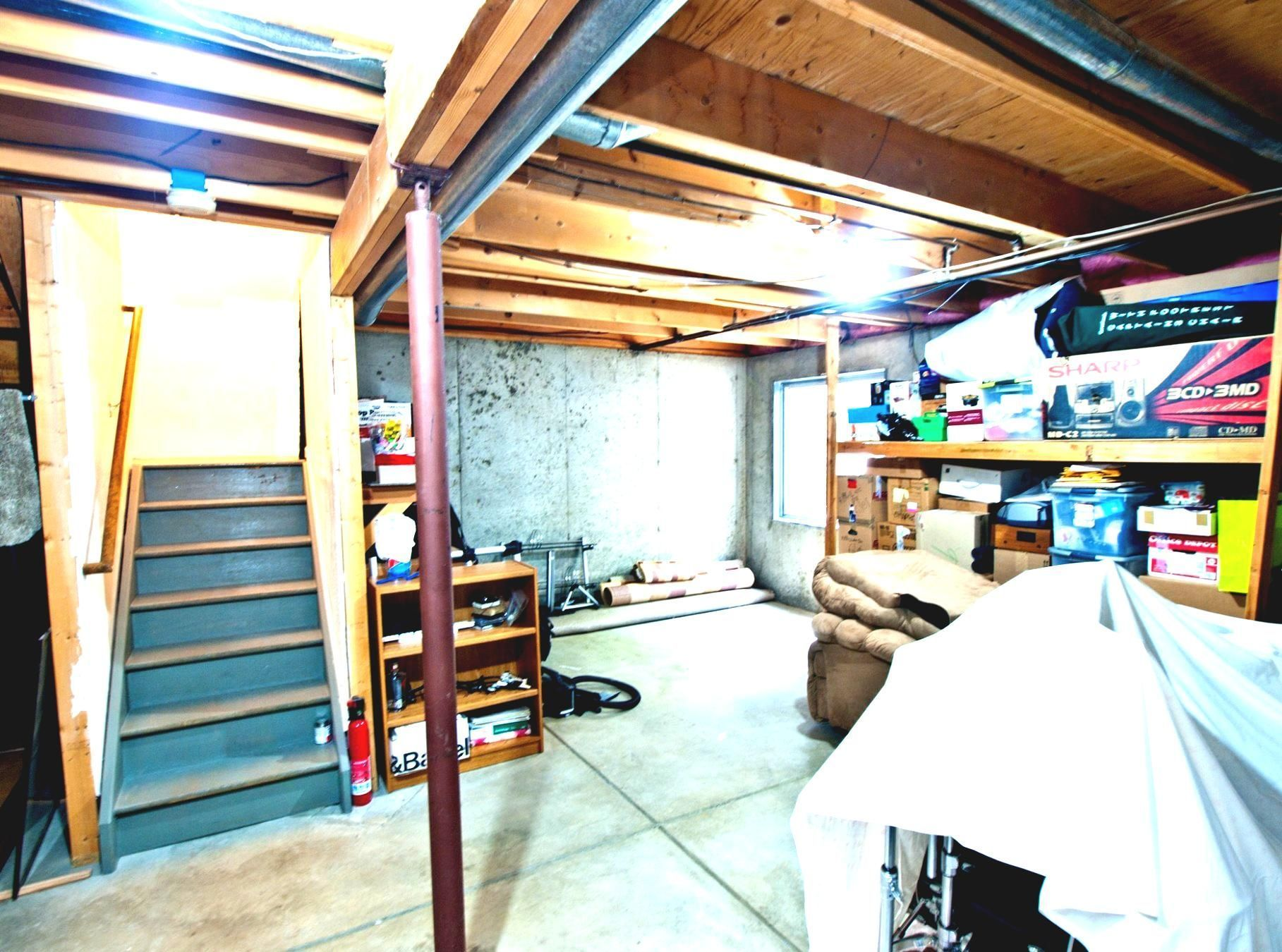 Unfinished basement ideas tags on a budget diy cheap industrial