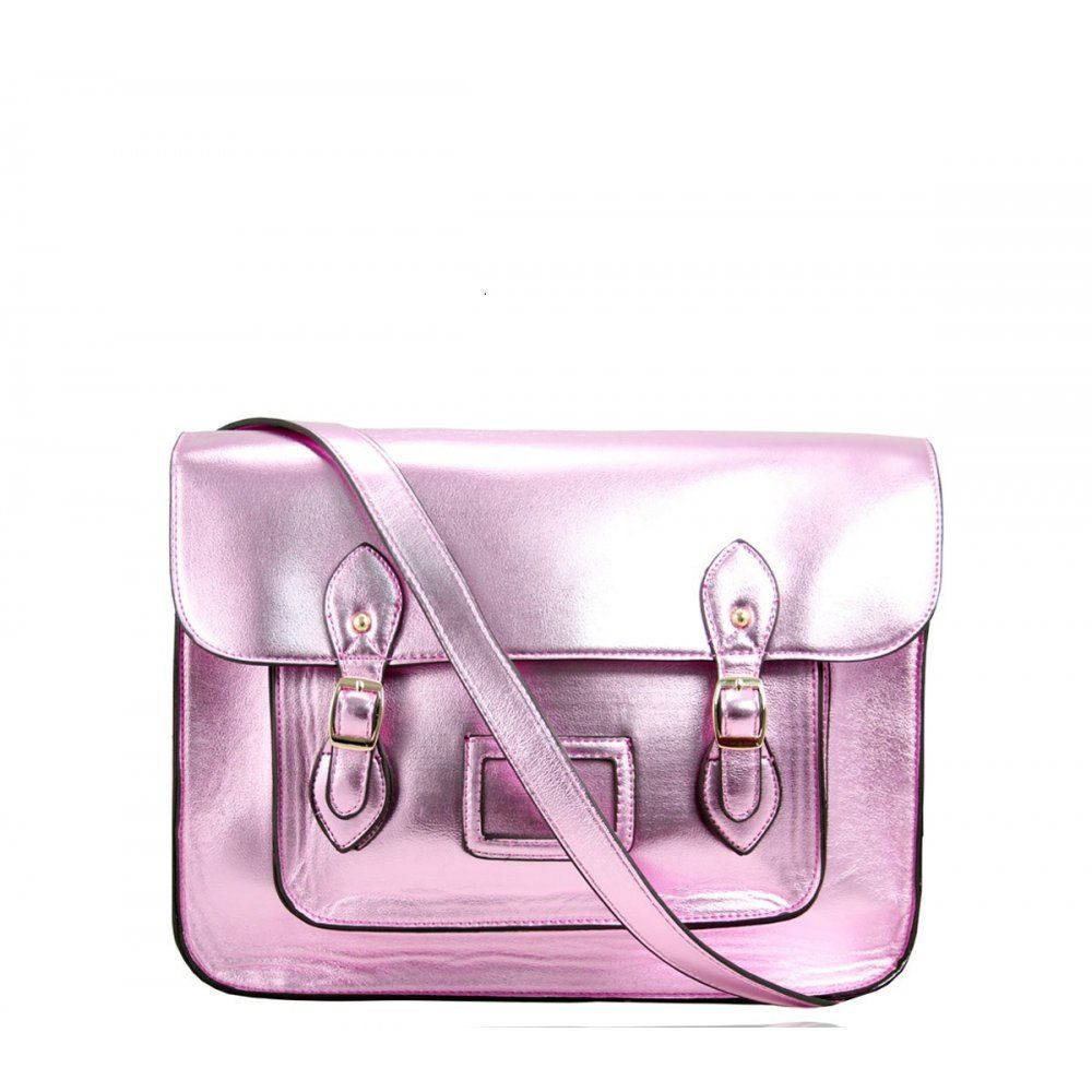 LYDC Bags Metallic Pink Satchel Bag | COLOUR - PINK - WELCOME AND ...