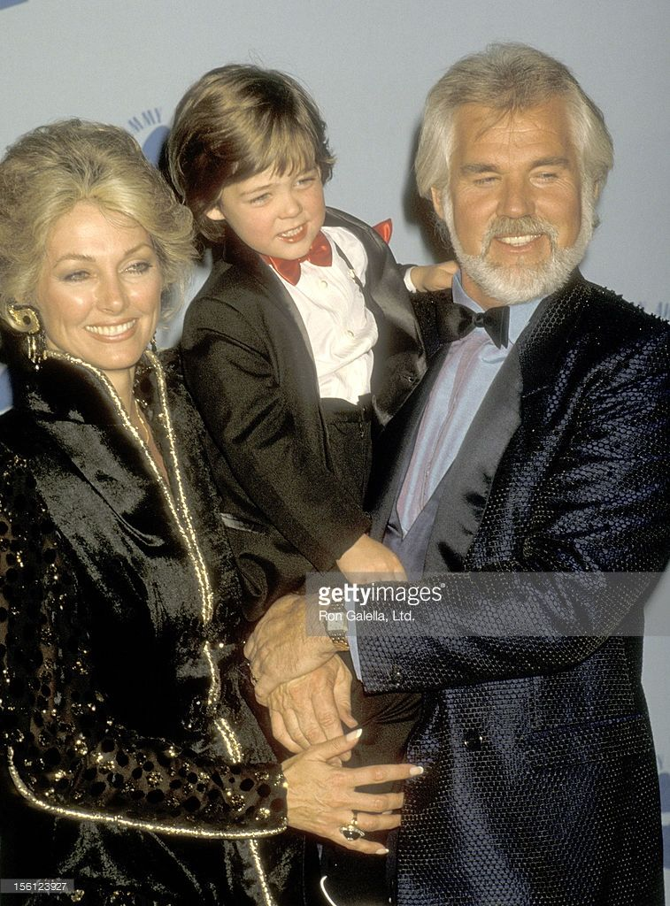 Musician Kenny Rogers, wife Marianne Gordon, and son ...
