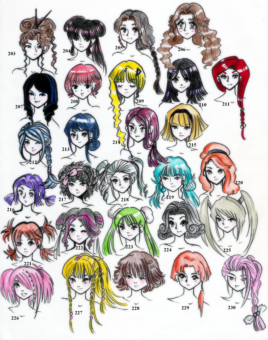 Hairstyles Edition 5 28 Illustrated By CNeonGenesisEVARei