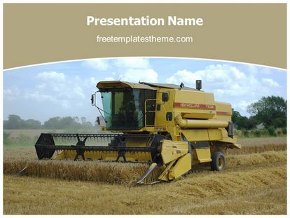 Download Free Combine Harvester Powerpoint Template For