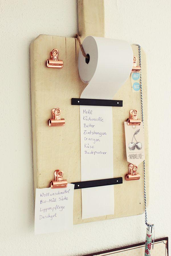 {DIY} Einkaufslisten Organizer (s'Bastelkistle) #kitchendecorideas