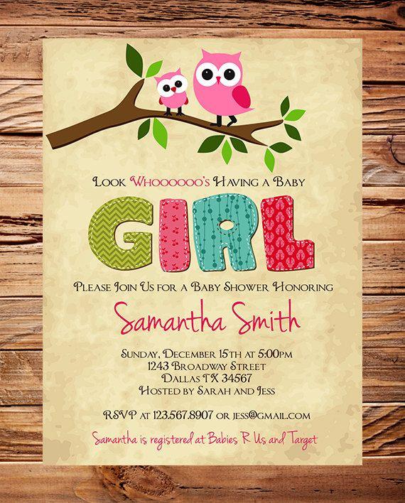 Owl Baby Shower Invitation Baby Shower Invite By StellarDesignsPro, $20.00