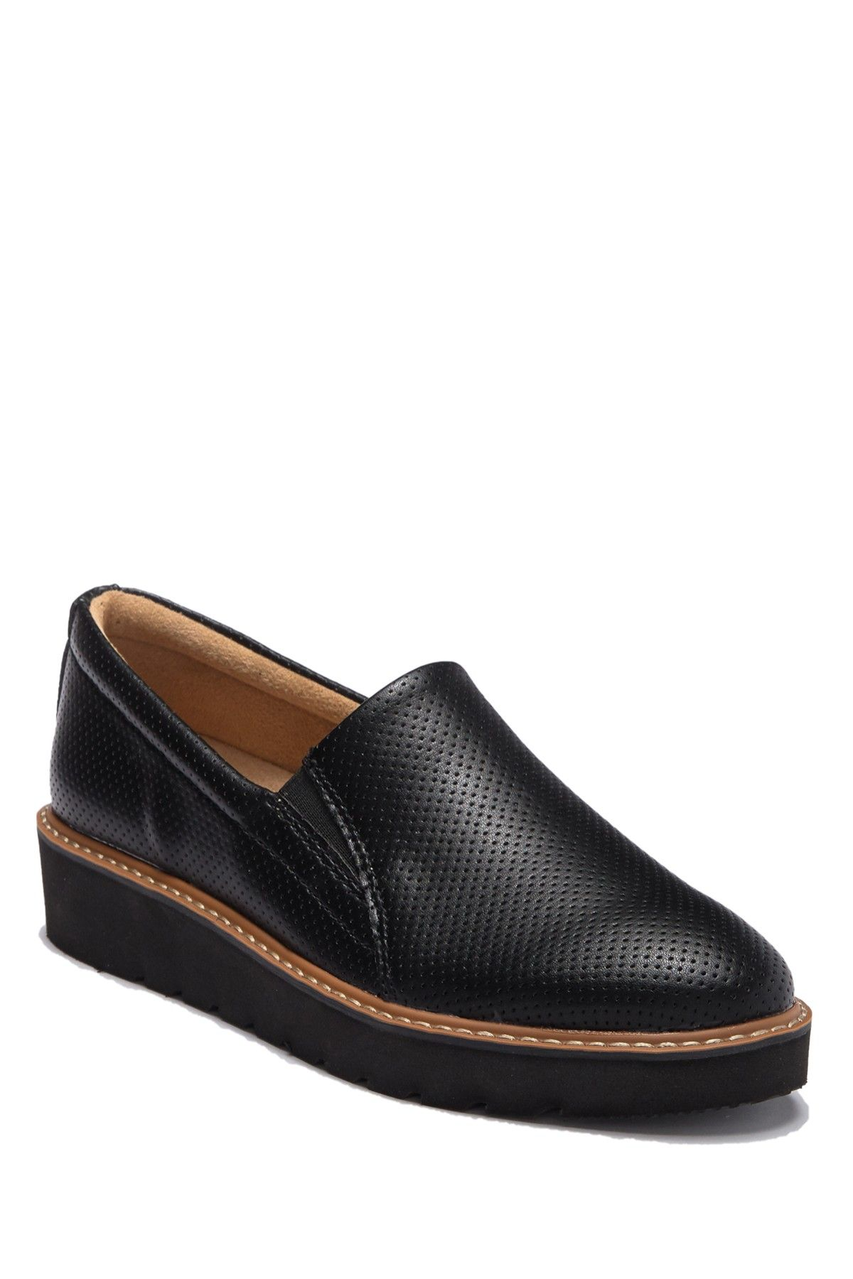 effie platform wedge loafer