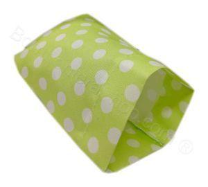 Sacchettino Portaconfetti Fai da Te Compleanno verde pois bianchi