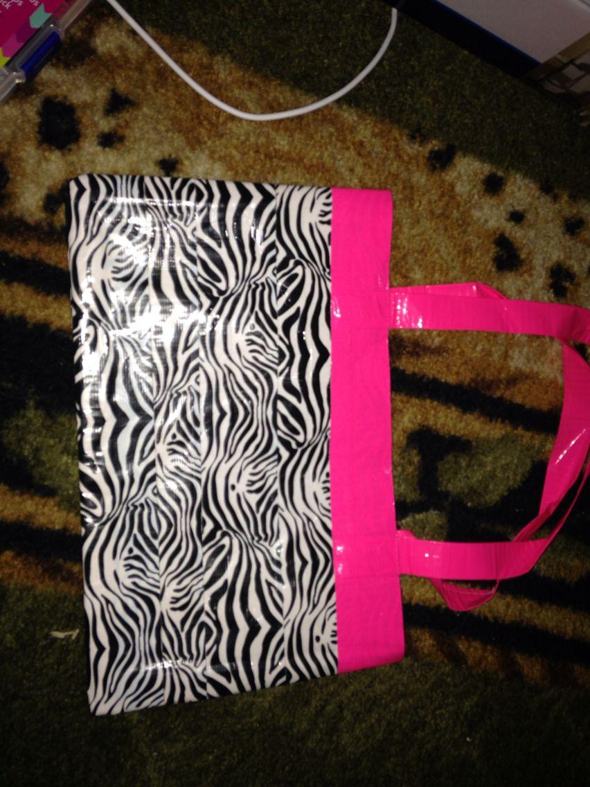 Zebra and hot pink bag/purse