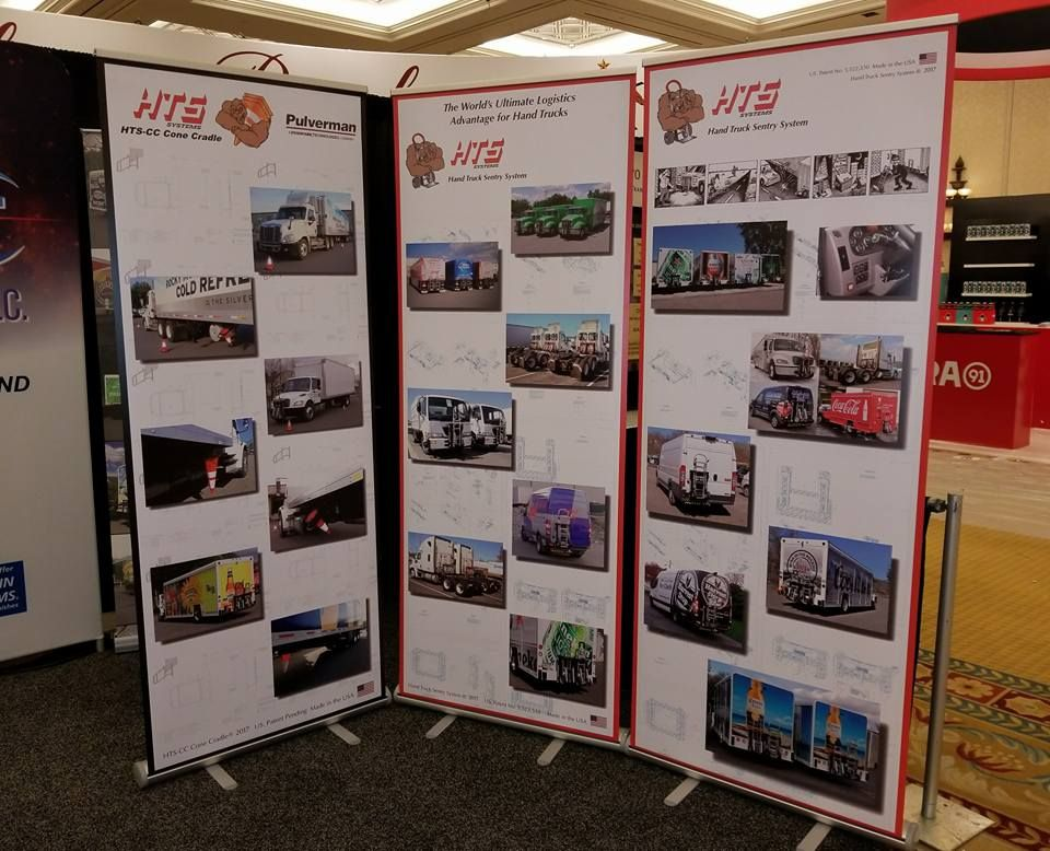 Hts systems displays trade show banners in las vegas