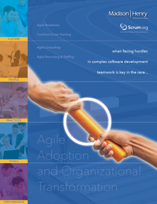 Win the relay race with this capabilities brochure for a scrum training and certification firm. www.madisonhenry.com