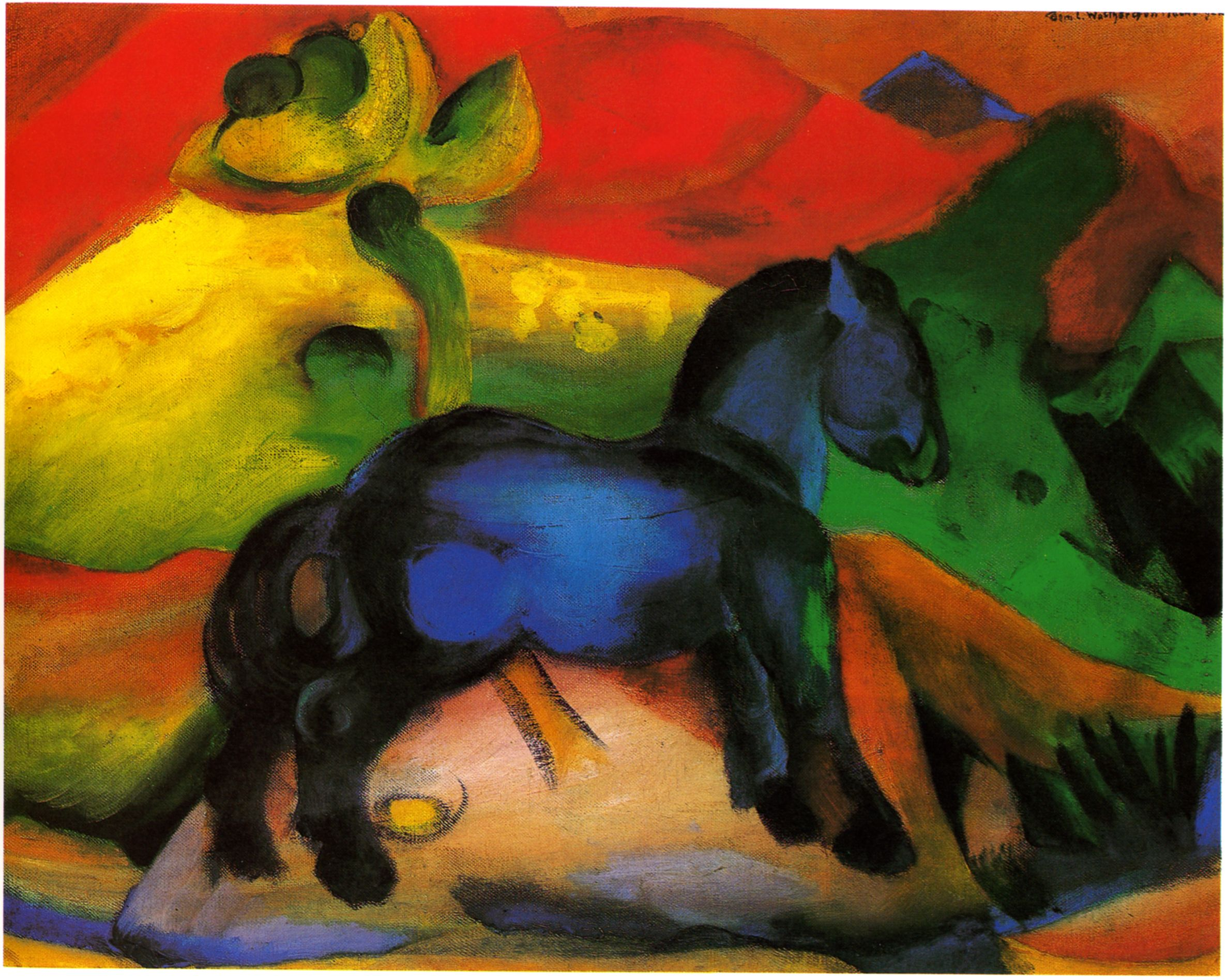 Pin By Billy Bussey Studios On Du Franz Marc Blue Horse