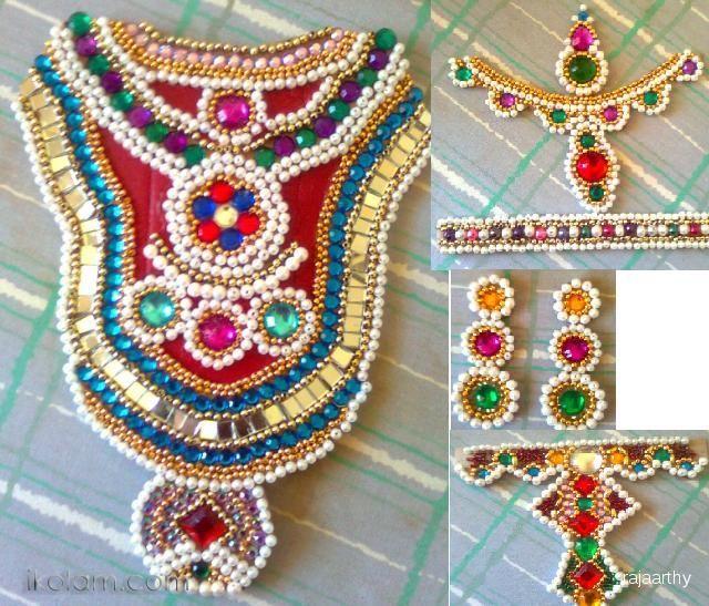 Rangoli Ambal Jewels For Kalasam Decoration Golu 2011 Crafts Www Ikolam